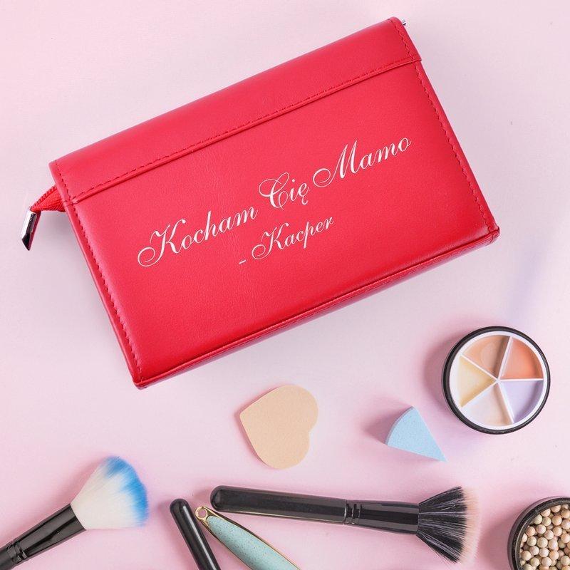 Kosmetyczka damska LOL czerwona dla mamy