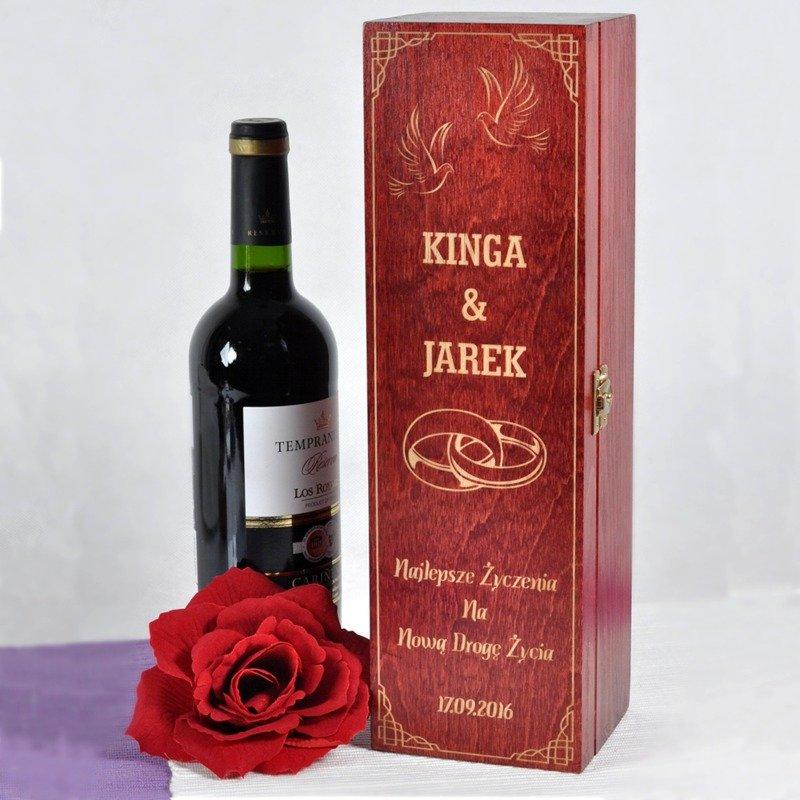 Ogromnie Pudełko na wino- na ślub lub rocznicę | Specially4u.pl - Prezenty UM43