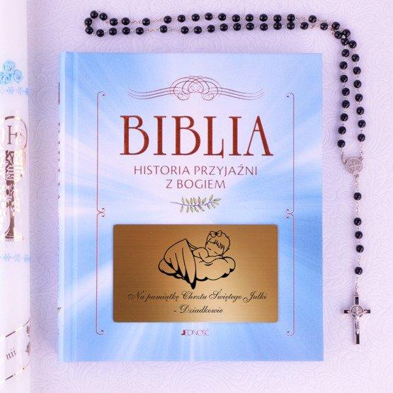 Biblia - Pamiatka Chrztu Świętego - Aniołek