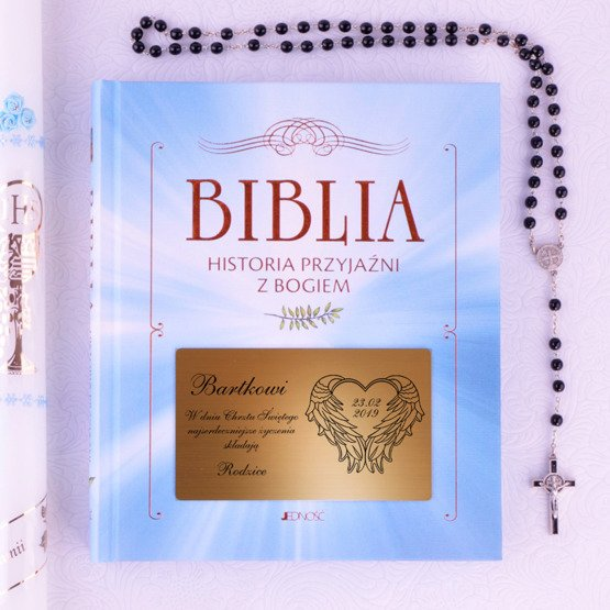 Biblia - Pamiatka Chrztu Świętego - Serce
