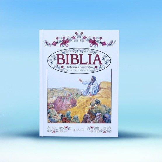 Biblia w drewnianym pudełku - gołąb symbol Ducha Świętego