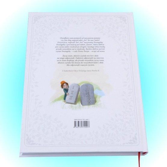 Biblia w pudełku drewaninym dla dziewczynki - Pamiątka Chrztu Św. - Krzyż