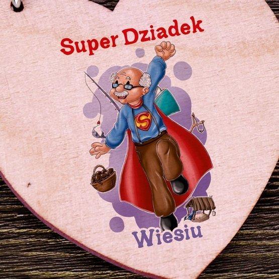 Brelok serce dla Super Dziadka