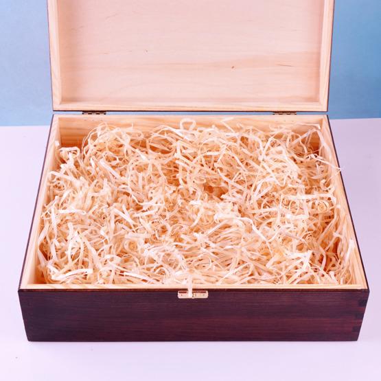 Drewniane pudełko prezentowe - Pamiątka Pierwszej Komunii Św - Hostia