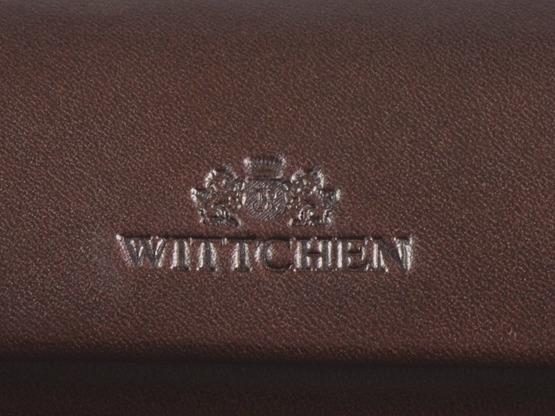 Etui na okulary skórzane Wittchen ciemno brązowe z grawerem