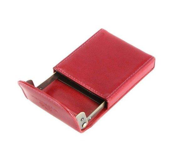 Etui na wizytówki Wittchen czerwone z inicjałami