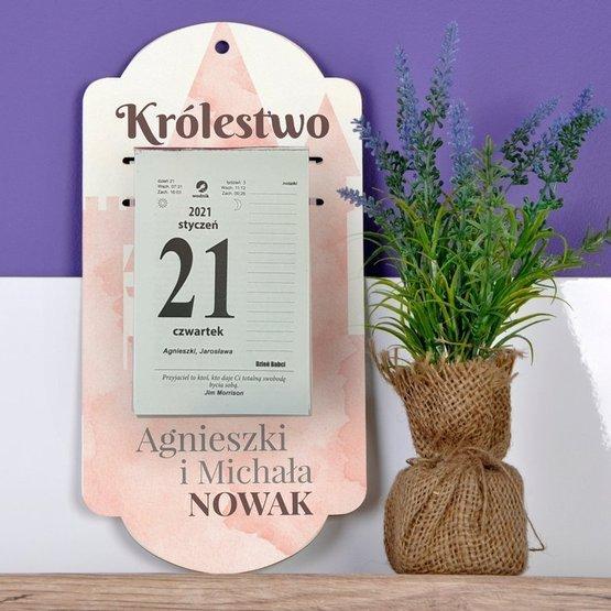 Kalendarz na deseczce z nadrukiem- Królestwo...