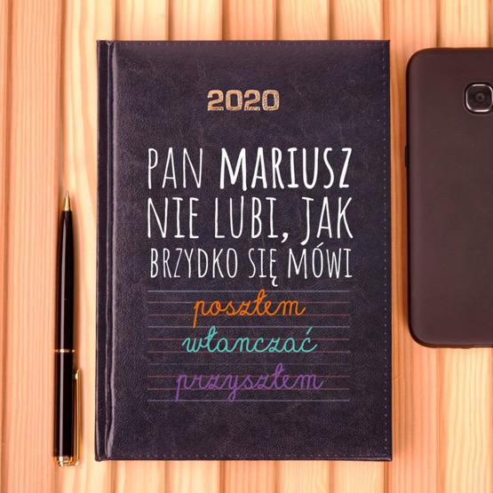 Kalendarz z nadrukiem dla nauczyciela-język polski