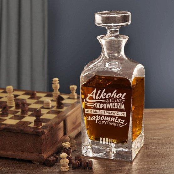 """Karafka do whisky """"Alkohol nie jest odpowiedzią..."""""""