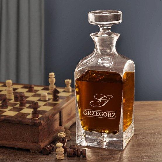 Karafka do whisky- Monogram + imię