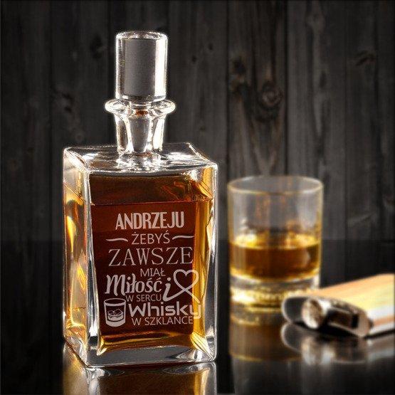 """Karafka do whisky """"...miłość w sercu..."""""""