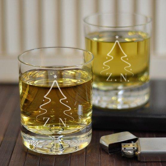 Karafka + szklanki w pudełku z grawerem- Choinka