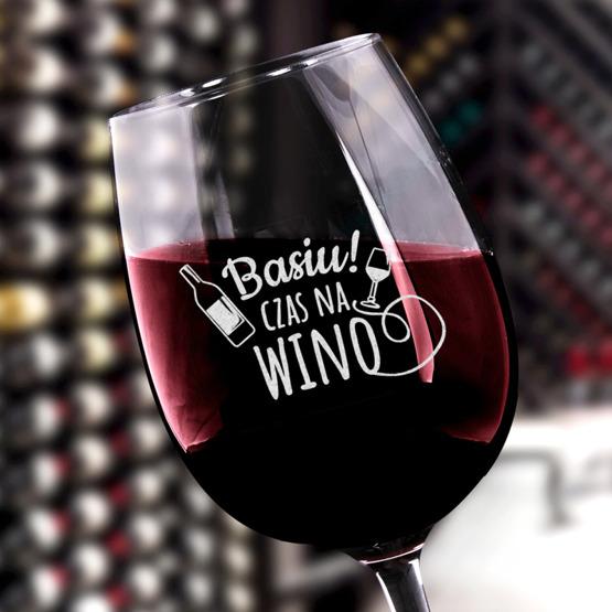 Kieliszek do wina z iminiem - Czas na wino
