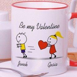 """Kubek """"Be my Valentine"""" dla niego"""