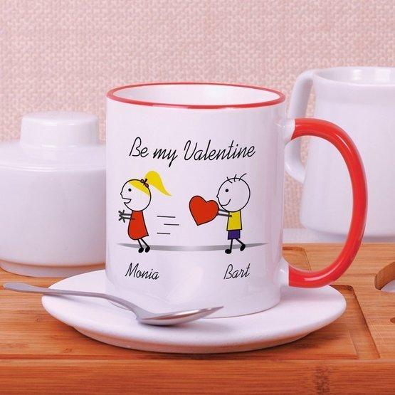 """Kubek """"Be my Valentine"""" dla niej"""