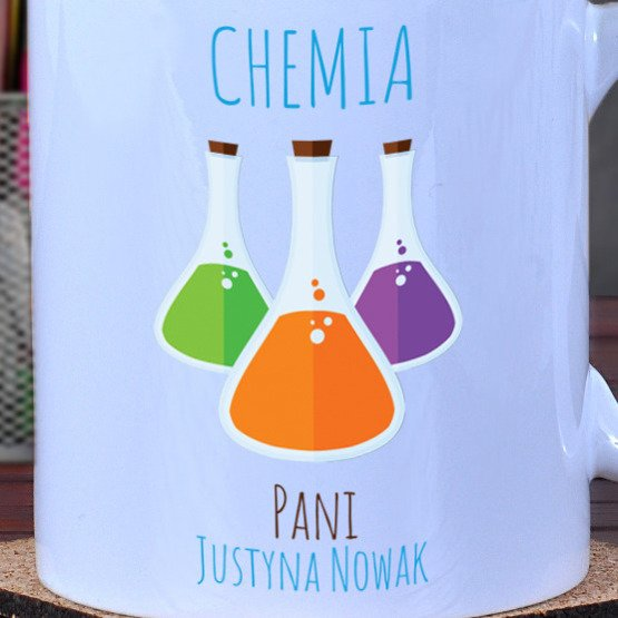 Kubek dla nauczyciela chemii
