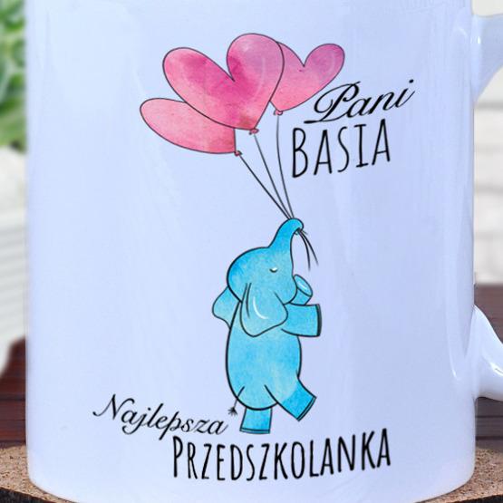 """Kubek dla przedszkolanki """"słonik"""""""