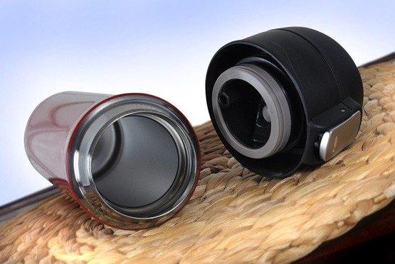 Kubek termiczny 450ml czerwony -  Motoholik