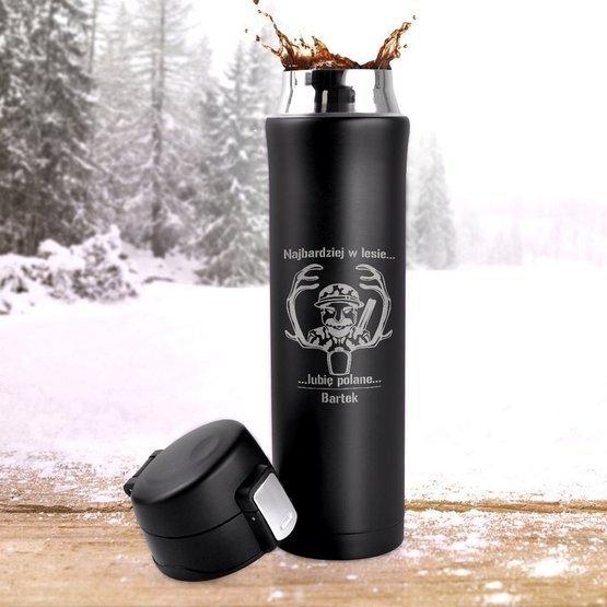 Kubek termiczny 450ml- Najbardzej w lesie...lubię polanę