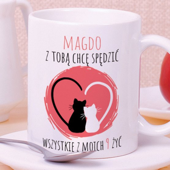 Kubek z nadrukiem- Zakochane koty