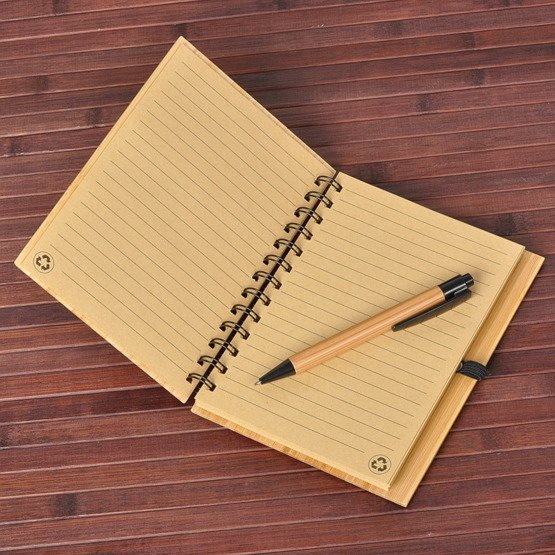 "Notes bambusowy ""Pamiętnik- TOP SECRET"""