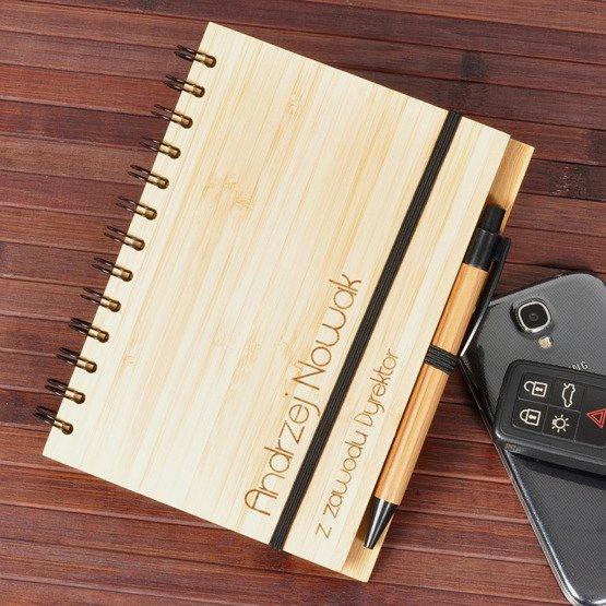 """Notes bambusowy """"z zawodu Dyrektor"""""""