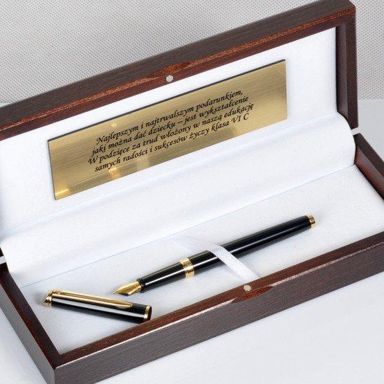 Pióro Waterman w eleganckim, drewnianym pudełku