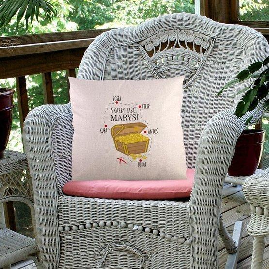 Poduszka dla babci - Skarby Babaci z imionami wnuków