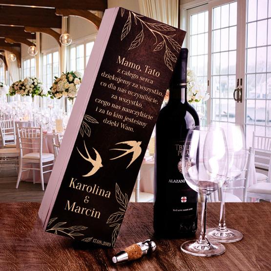 Pudełko na wino - podziękowania dla rodziców