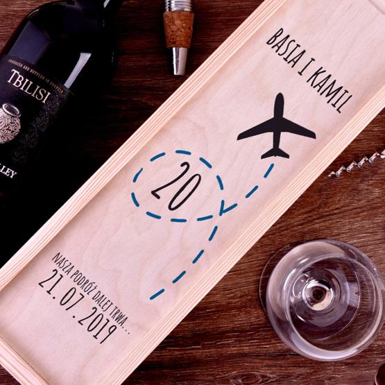 Pudełko na wino - prezent na rocznicę ślubu
