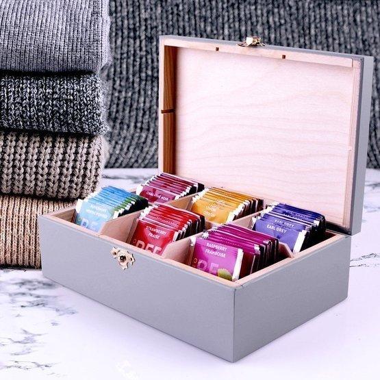 Pudełko szare z herbatą Lipton 60szt. dla babci