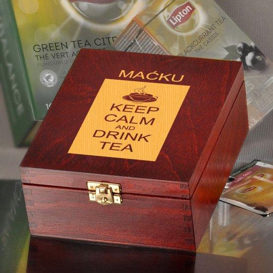 Pudełko z herbatą Lipton- Keep Calm