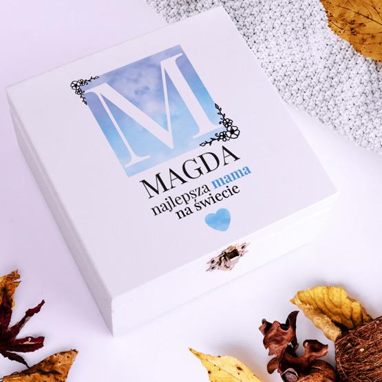 Pudełko z herbatą Lipton z monogramem i imieniem