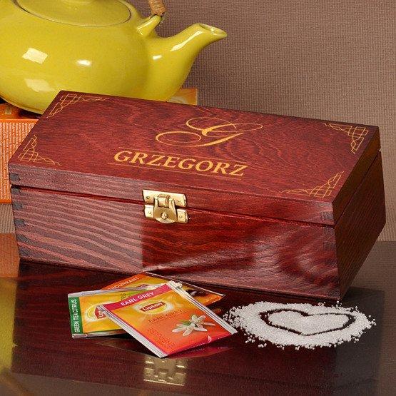 """Pudełko z herbatą """"Monogram + imię"""""""