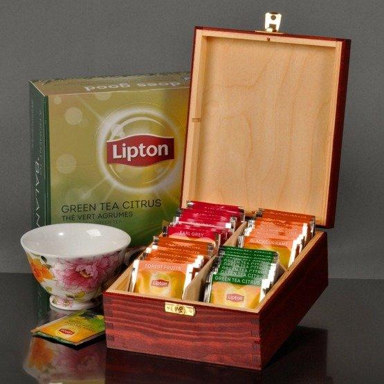 """Pudełko z herbatą na ślub- """"Młoda Para"""""""