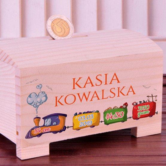 Skarbonka na Urodziny dla dziecka - Pociąg
