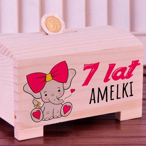 Skarbonka na Urodziny dla dziecka - Słonik