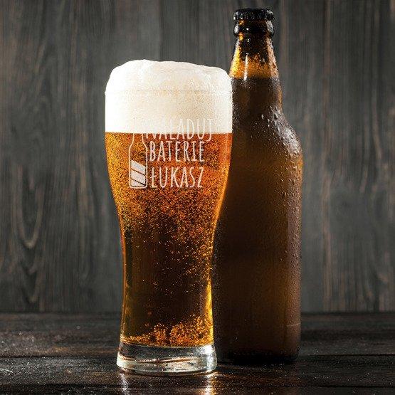 Szklanka do piwa - Naładuj baterie