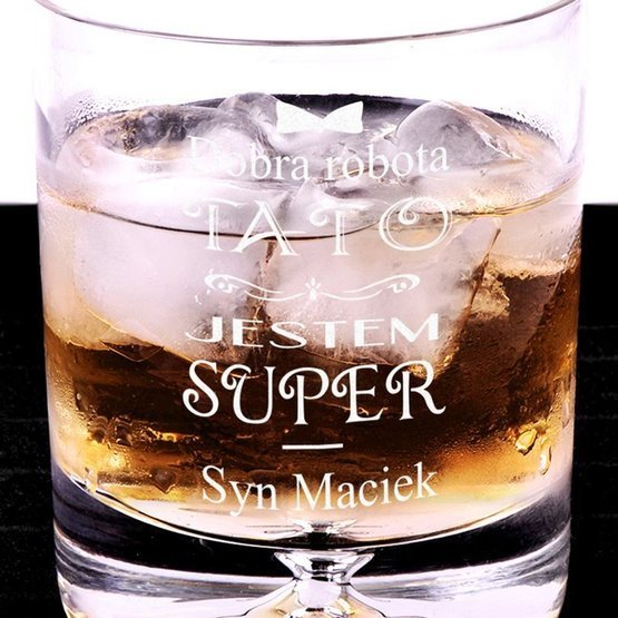 Szklanka do whisky - Dobra robota Tato - prezent dla ojca