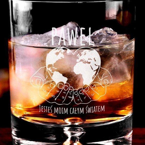 Szklanka do whisky dla ukochanego: Jesteś moim całym światem
