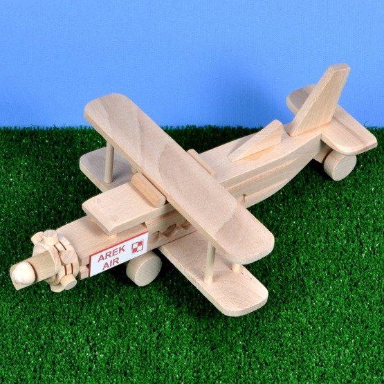 Zabawka drewniana- samolot dwupłatowy