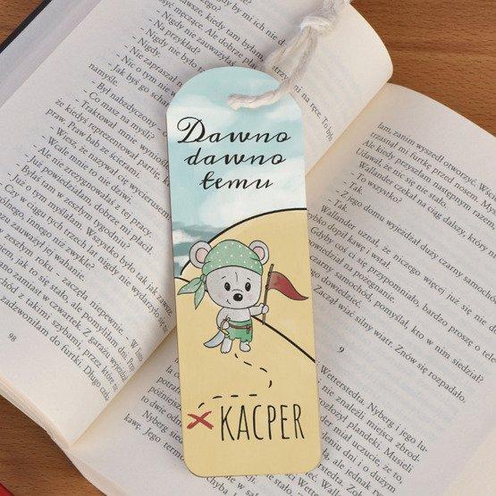 Zakładka do książki ze sznureczkiem dla chłopca -Pirat