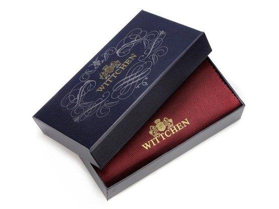 Zestaw prezentowy damski WITTCHEN XVIII - granatowy portfel + beżowy szal